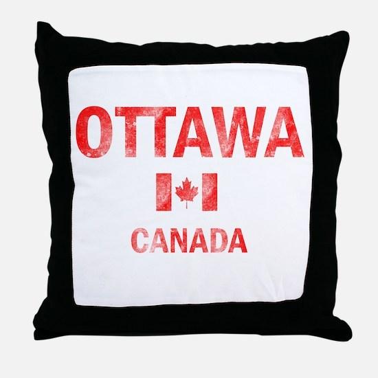 Ottawa Canada Designs Throw Pillow