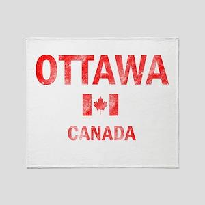 Ottawa Canada Designs Throw Blanket