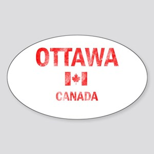 Ottawa Canada Designs Sticker (Oval)