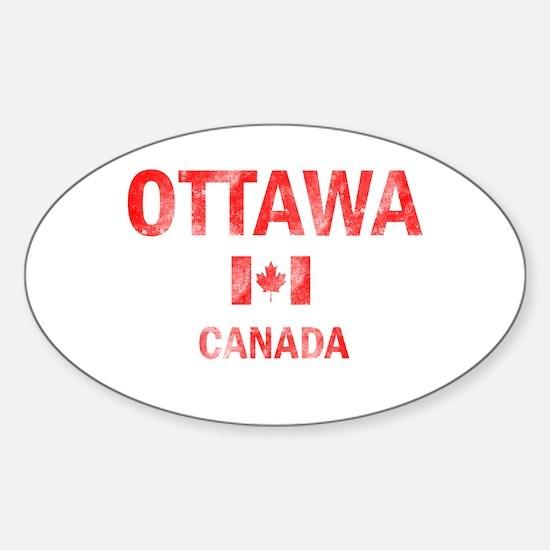 Ottawa Canada Designs Sticker (Oval)
