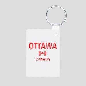 Ottawa Canada Designs Aluminum Photo Keychain