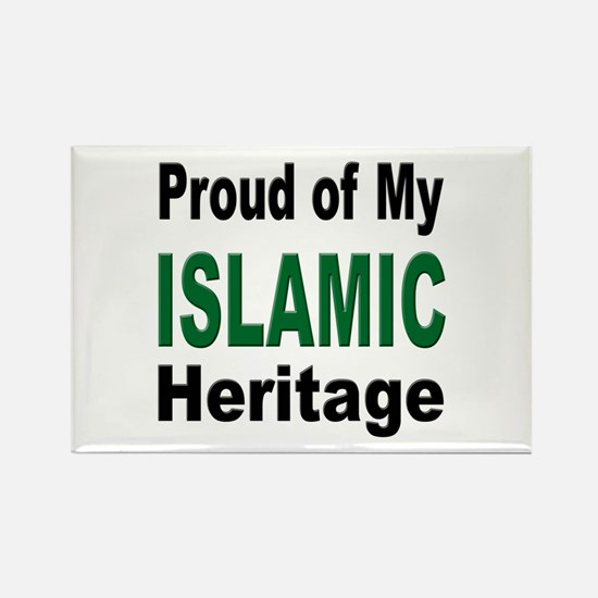 Proud Islamic Heritage Rectangle Magnet