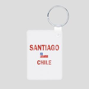 Santiago Chile Designs Aluminum Photo Keychain