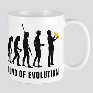evolution saxophone player Mug