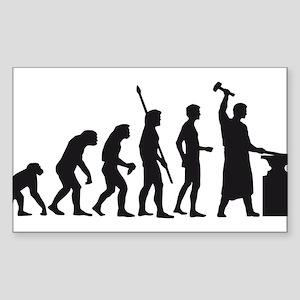 evolution blacksmith Sticker (Rectangle)
