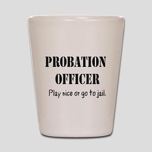Probation Officer Shirt Shot Glass
