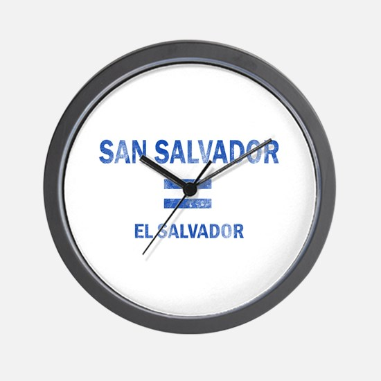 San Salvador El Salvador Designs Wall Clock