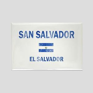 San Salvador El Salvador Designs Rectangle Magnet