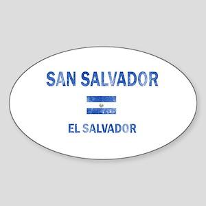 San Salvador El Salvador Designs Sticker (Oval)