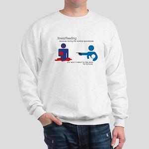 Breastfeeding Zombie Apocalypse Sweatshirt