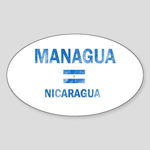 Managua Nicaragua Designs Sticker (Oval)