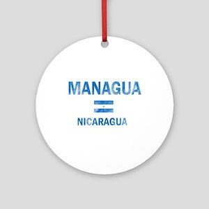 Managua Nicaragua Designs Ornament (Round)