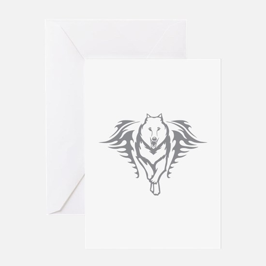 Wolf Flames Greeting Card