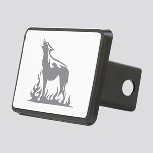 Wolf Flames Rectangular Hitch Cover