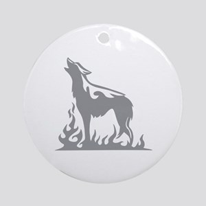 Wolf Flames Ornament (Round)