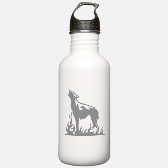 Wolf Flames Sports Water Bottle