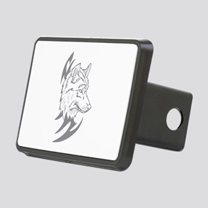 Tribal Wolf Rectangular Hitch Cover