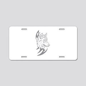 Tribal Wolf Aluminum License Plate