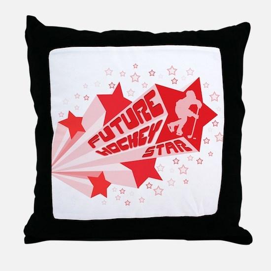 Future Hockey Star Throw Pillow