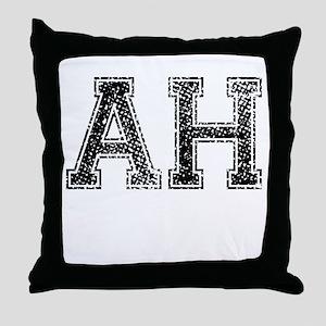 AH, Vintage Throw Pillow