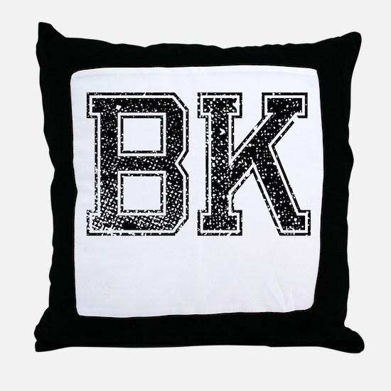 BK, Vintage Throw Pillow
