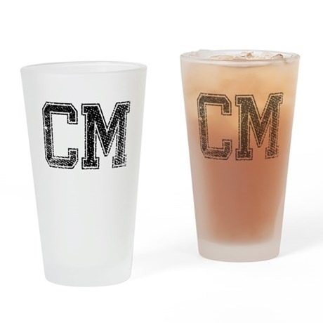 CM, Vintage Drinking Glass