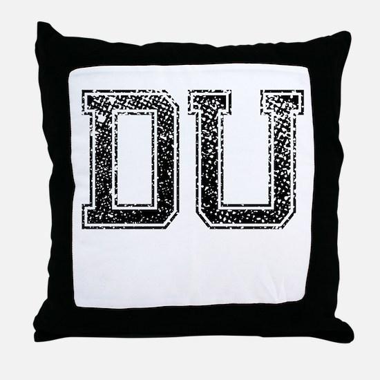 DU, Vintage Throw Pillow