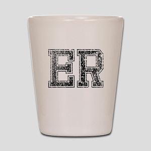 ER, Vintage Shot Glass