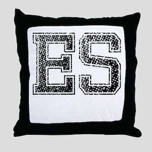ES, Vintage Throw Pillow