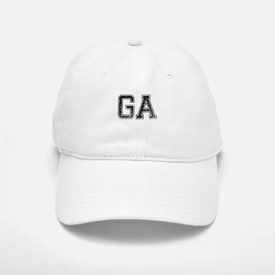 GA, Vintage Baseball Baseball Cap