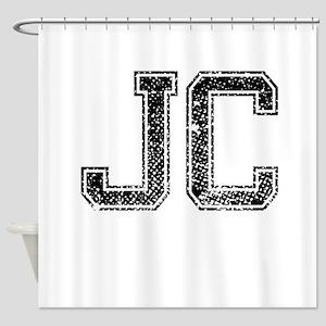 JC, Vintage Shower Curtain