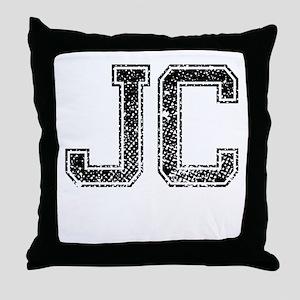 JC, Vintage Throw Pillow