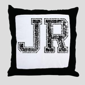 JR, Vintage Throw Pillow