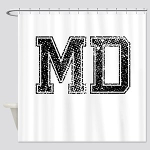 MD, Vintage Shower Curtain