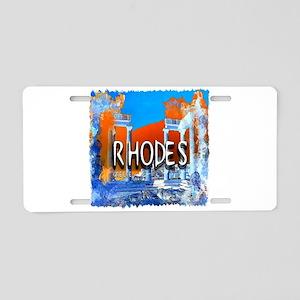 rhodes Aluminum License Plate