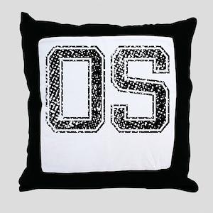 OS, Vintage Throw Pillow