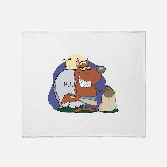 Wolf Halloween Throw Blanket