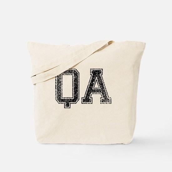 QA, Vintage Tote Bag