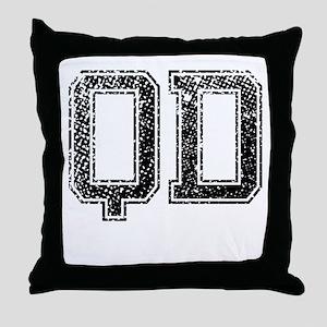 QD, Vintage Throw Pillow