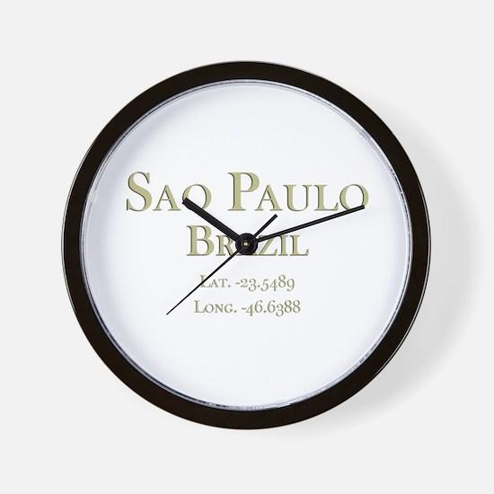 Sao Paulo-1.png Wall Clock