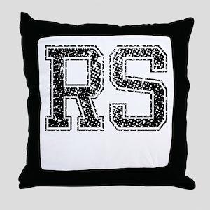 RS, Vintage Throw Pillow