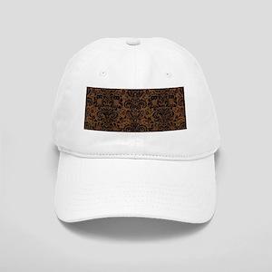 DAMASK2 BLACK MARBLE & BROWN WOOD (R) Cap