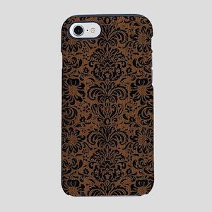 DAMASK2 BLACK MARBLE & BROWN W iPhone 7 Tough Case