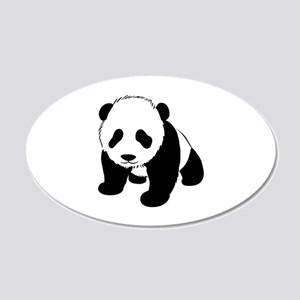 Panda 22x14 Oval Wall Peel