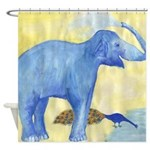 Elephant Squirting Water Shower Curtain