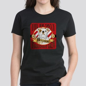 The Brawny Bulldog Barbershop Brew Womens Dark T-S