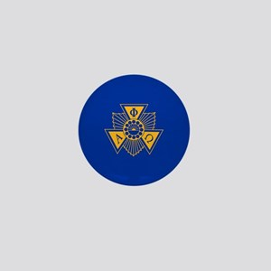 Alpha Phi Omega Crest and Letter Desig Mini Button