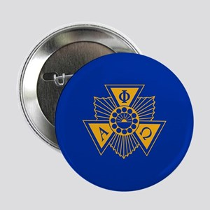 "Alpha Phi Omega Crest and Letter Desi 2.25"" Button"