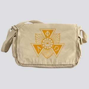 Alpha Phi Omega Crest and Letter Des Messenger Bag