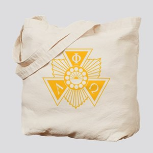 Alpha Phi Omega Crest and Letter Design Tote Bag